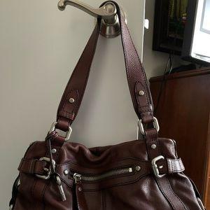 Fossil leather shoulder handbag/purse